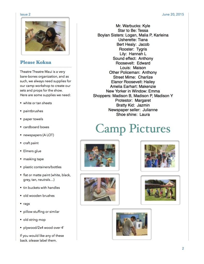 Camp Newsletter Week 2 Page 2 jpg