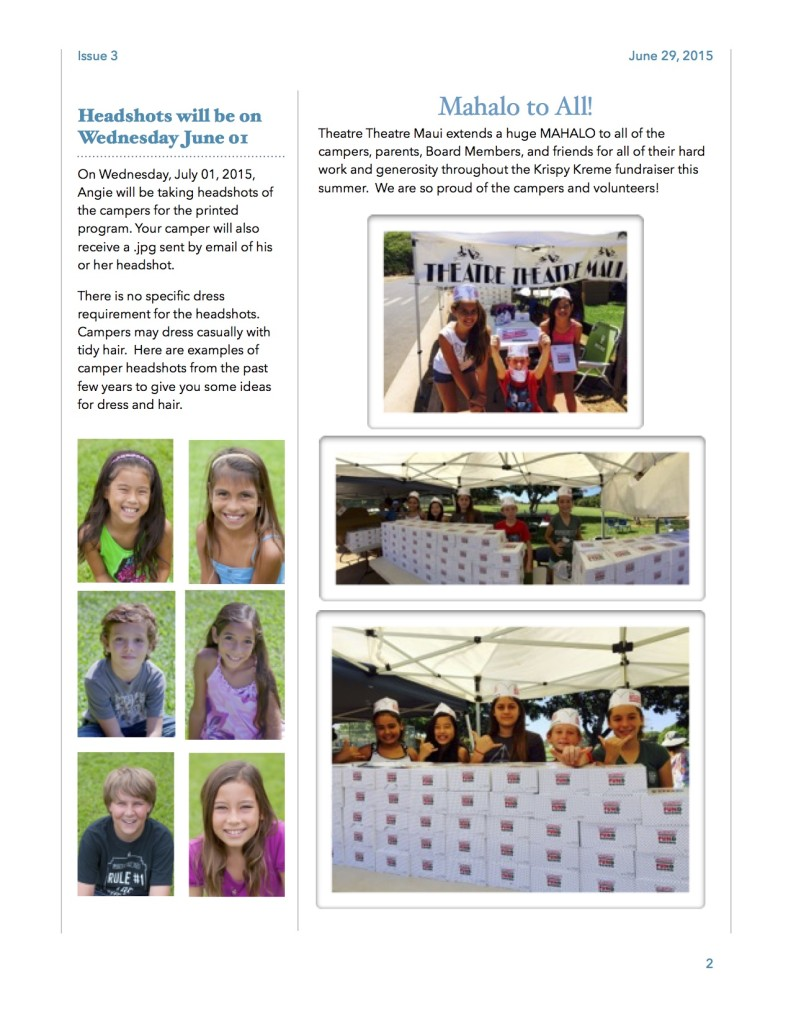 Issue #3 of the Leapin' Lizards Gazette Camp Newsletter