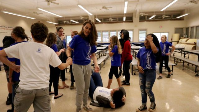 The 2017-2018 Drama Club at Lahaina Intermediate School